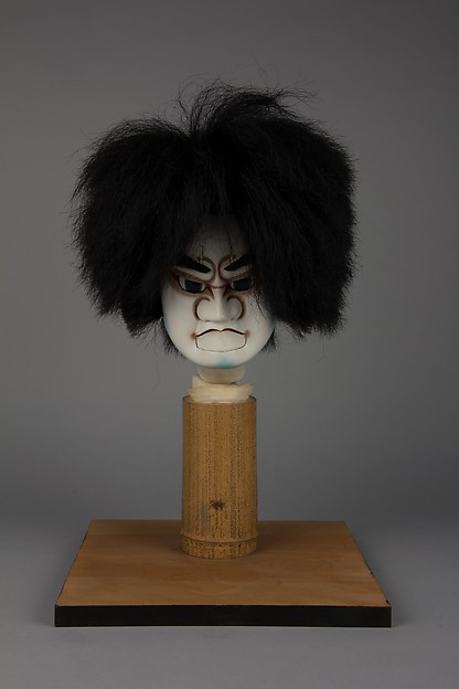 Bunraku Puppet Head for Young Male Role