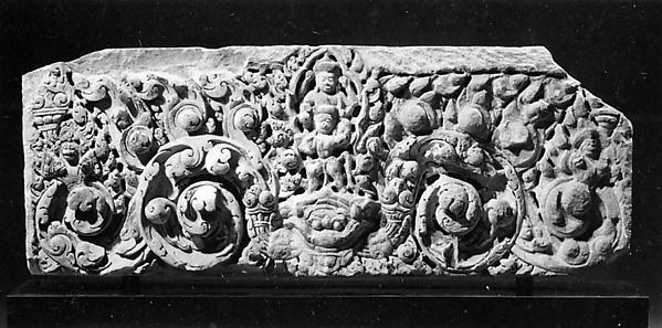 Lintel with Vishnu on Garuda Standing on a Kala Head