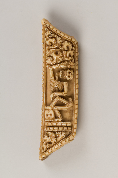 Plaque from a Tantric Ritual Apron with a Skeleton