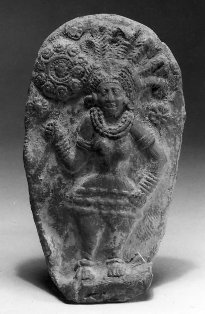 Plaque with Standing Goddess