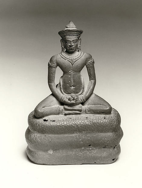 Buddha Seated on the Coils of a Naga