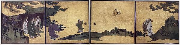 列子図襖<br/>The Daoist Immortal Liezi