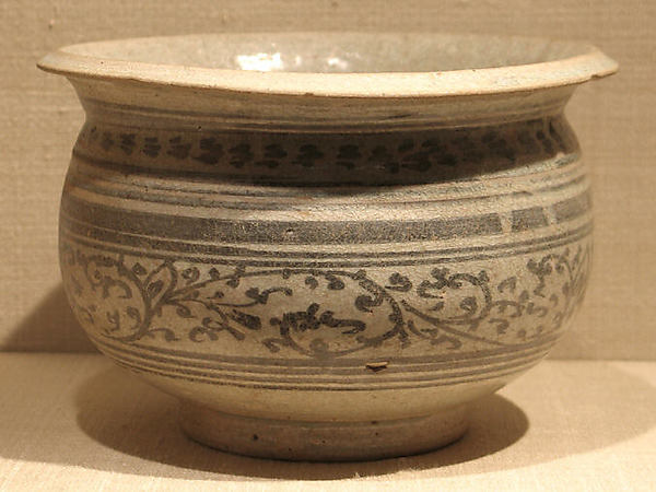 Pot with Foliate Design