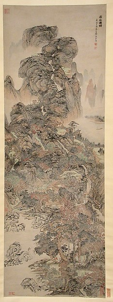 明  文伯仁  溪山僊館圖  軸<br/>Dwellings of the Immortals Amid Streams and Mountains