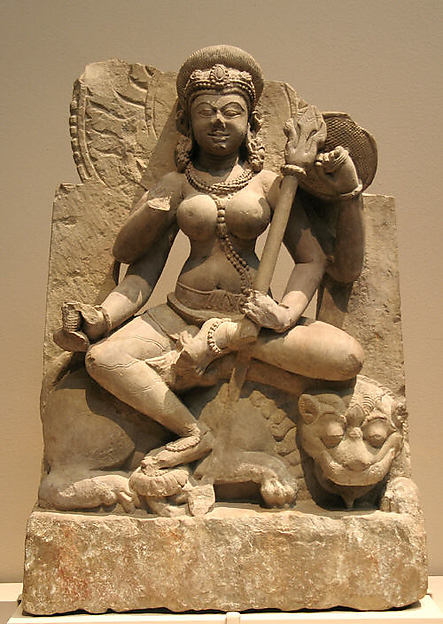 Four-Armed Durga Seated on Her Lion Vehicle