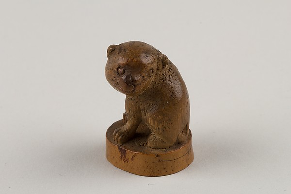 ō<br/>Netsuke: Seal in the Form of a Seated Pug-Dog