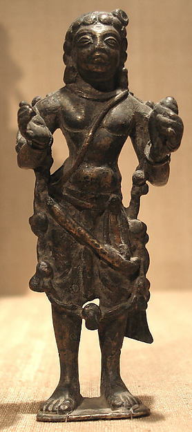 Standing Male Deity (Perhaps Vishnu) Holding a Conch