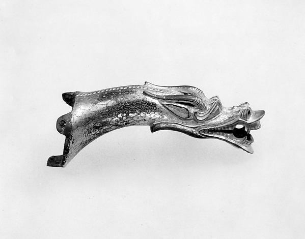Handle in the Shape of a Dragon's Head