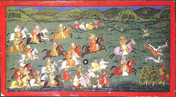 Maharana Sangram Singh Hunting Hares at Naramangra