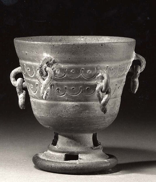 Footed Cup with Pendants