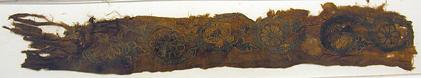 Embroidered Strip with Floral Scroll