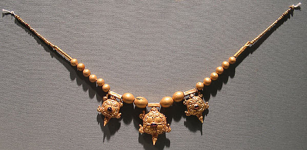 Necklace with Three Tortoise-Shaped Pendants