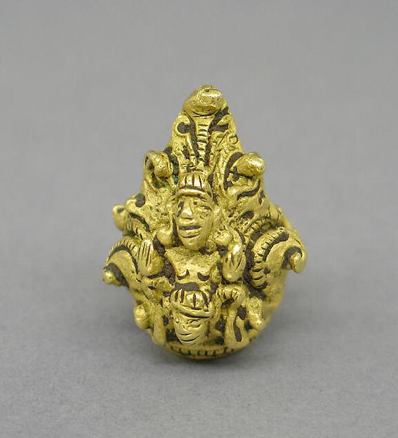 Rod Finial Clip with Vishnu on Garuda