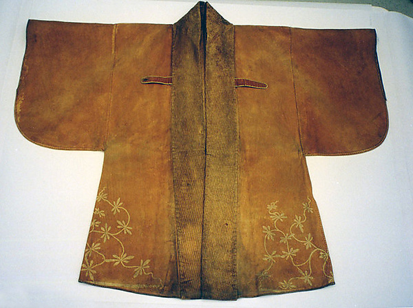 Leather Coat (Kawabaori) with Pattern of Large Shrimp
