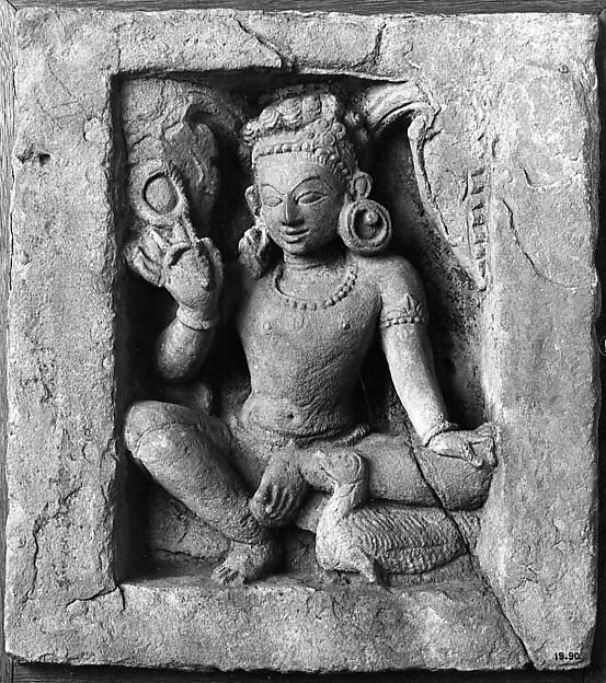 Varuna Holding a Noose and Riding a Swan