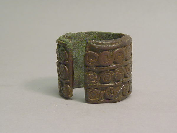 "Cuff with Three Rows of ""S""-Shaped Designs"