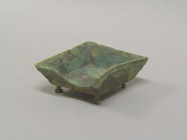 Footed Square Vessel