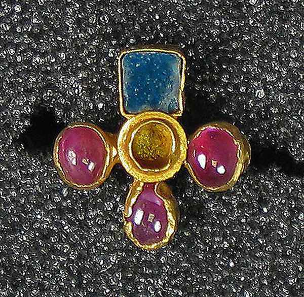 Earring, Quatreform with Rubies