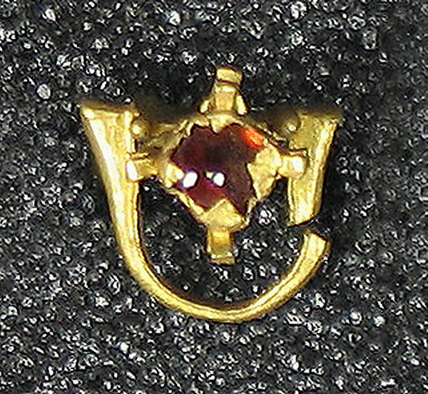 Cast Earring with Ruby
