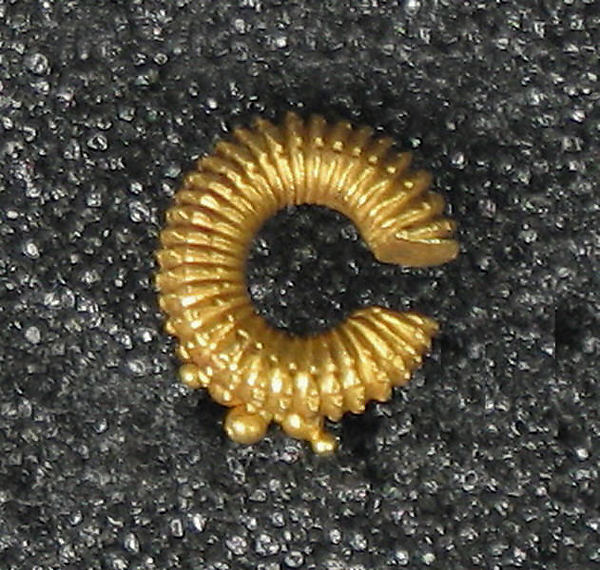 Cast Earring with Granulation