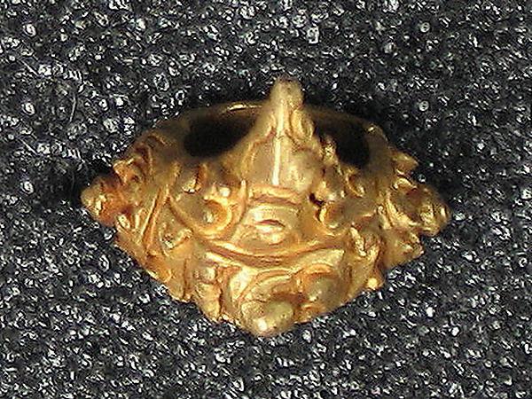 Earring cast with Mount Meru