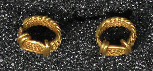 Pair of Earrings, Pennanular Hoop