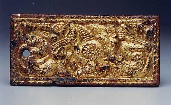 Belt Plaque with Feline and Ram