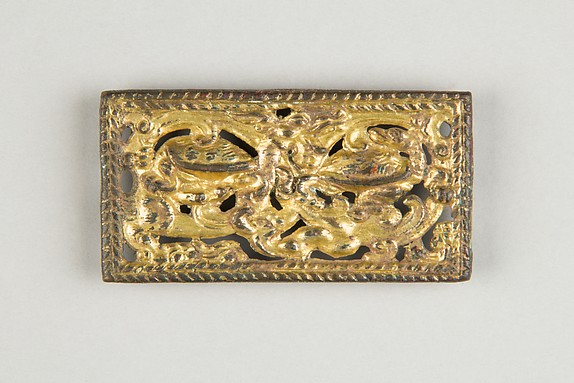 Belt Plaque with Dragon and Tortoises