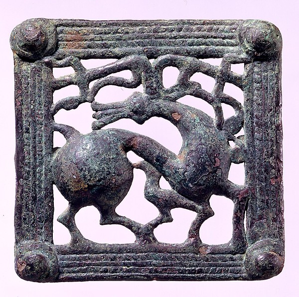 Belt Buckle with Stag
