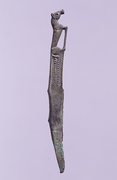 Knife with Recumbent Horse