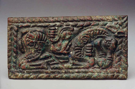 Belt Plaque with Horse and Wolf