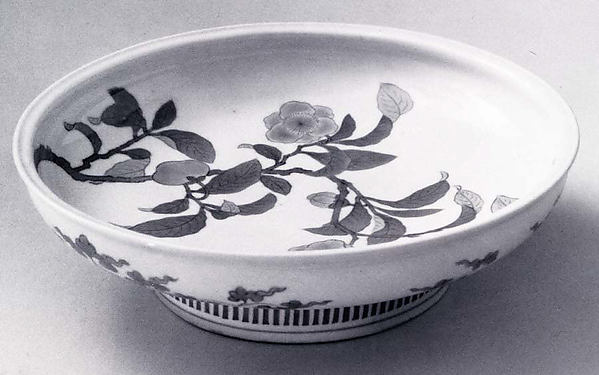 Plate with Decoration of Camellia Branch