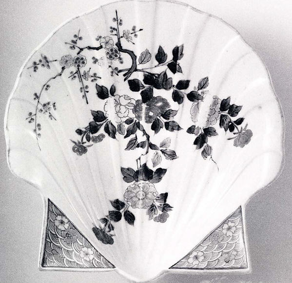 Dish in the Shape of a Shell with Floral Decoration