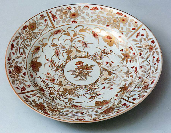 Plate with Decoration of Birds in Millet