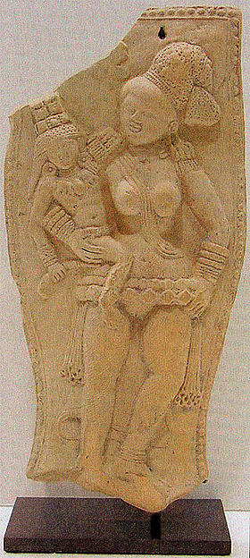 Yakshi Holding a Crowned Child
