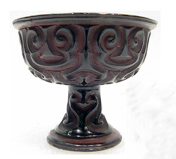 Stem Cup with Pommel Scroll Design