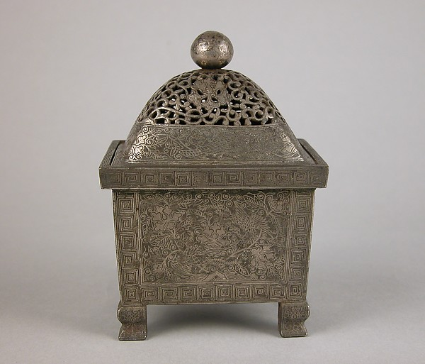 Incense Burner with Peacock and Peony