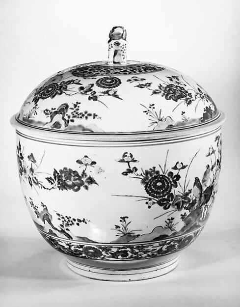 Tureen with Rocks, Flowers, and Birds