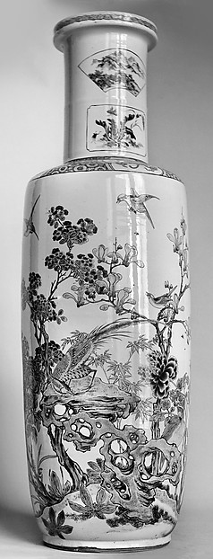 Vase with Magnolia, Hollyhocks, and Phoenixes