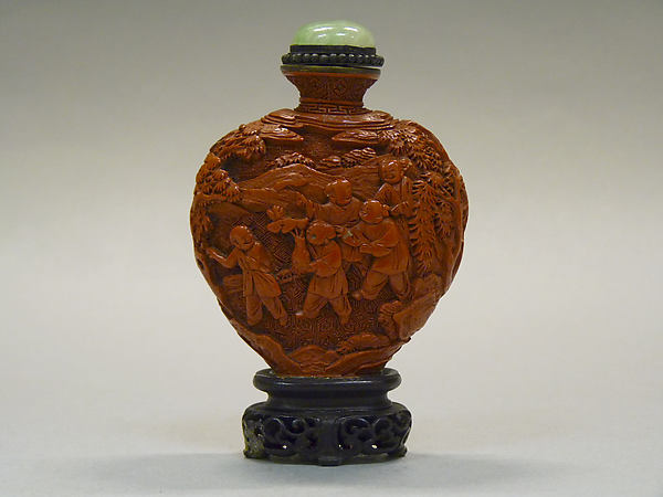 Snuff Bottle with Children at Play