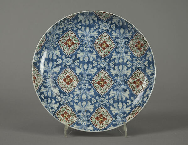 Dish with Stylized Floral Pattern