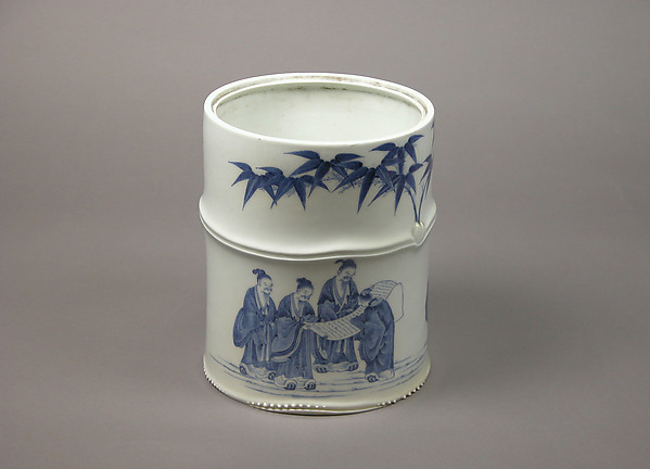Water Jar for the Tea Ceremony with Seven Sages of the Bamboo Grove Design