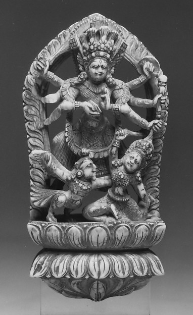 Wrathful Eight-Armed Goddess Slaying a Demon