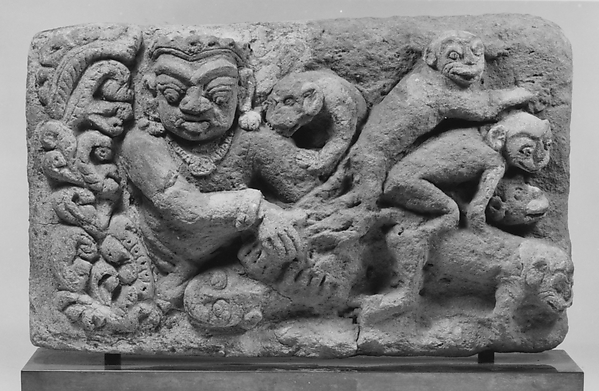 Plaque with Ramayana Scene