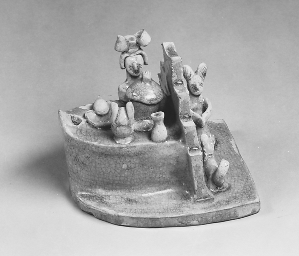 Stove with figures