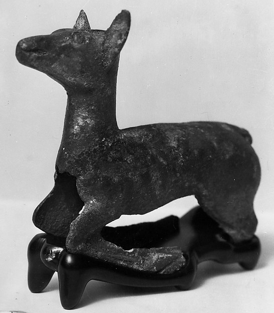 Figure of Reclining Deer