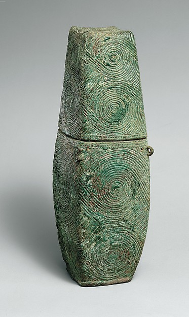 Container with Spiral Decoration