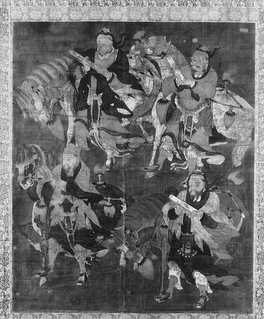 Four Deities with Horses