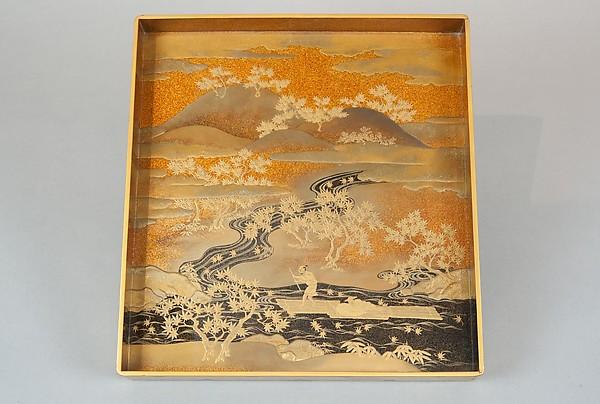 Writing Box with Design of the Tatsuta River