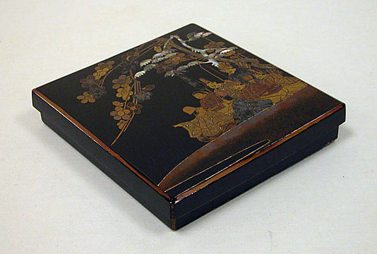 Writing Box with Design of Six Poets under a Cherry Tree and a Pine